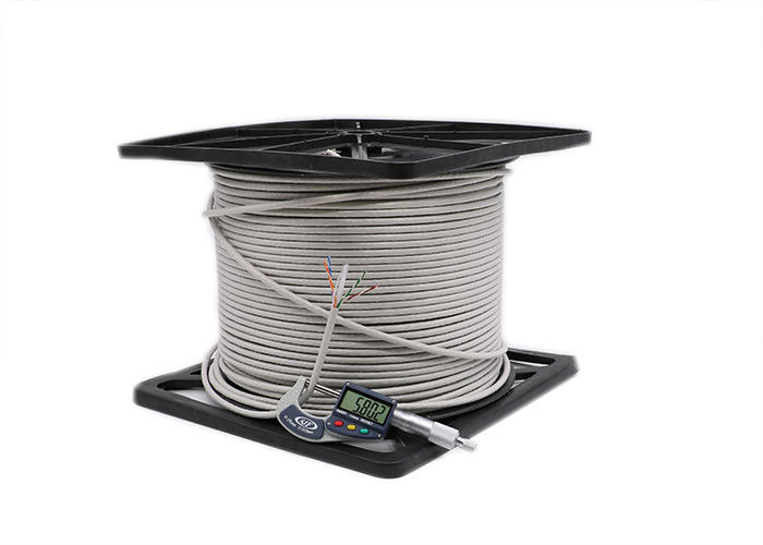 Bare Copper 0.56mm Cat6 UTP Cable , Solid 500MHz Ethernet Cat6 Cable 1000ft